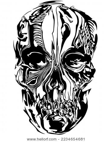 黑白骷髅矢量图 - 站酷海洛正版图片, 视频, 音乐素材