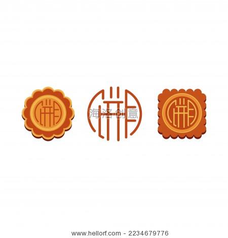 中秋节月饼创意设计矢量图