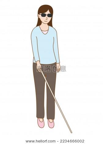 盲人卡通人物形象 - 站酷海洛正版图片, 视频, 音乐 -