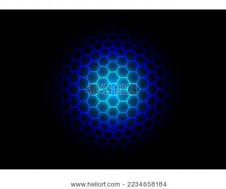 3d六边形网格球体矢量背景