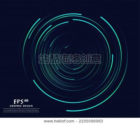 圆形的线条,科幻背景,抽象矢量背景图
