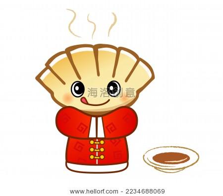 非常可爱卡通饺子先生