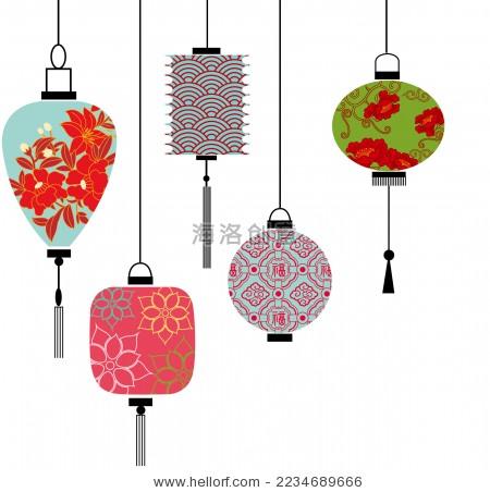 中国新年 中式灯笼