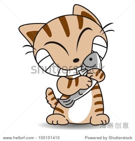 猫正在吃鱼1 - 站酷海洛正版图片, 视频, 音乐素材