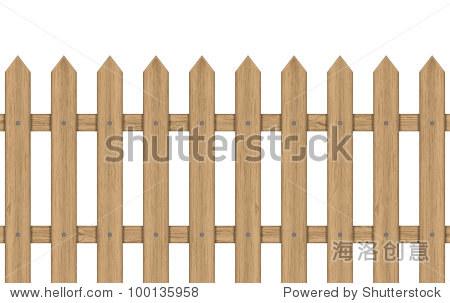 矢量图的木栅栏