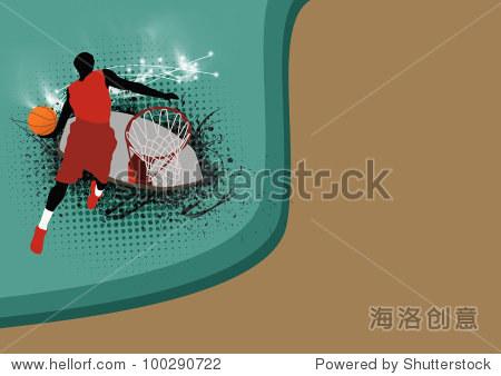 篮球跳背景与空间(海报,网络,传单,杂志)