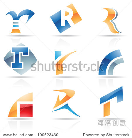 ����R�_vector illustration of abstract icons based on the letter r