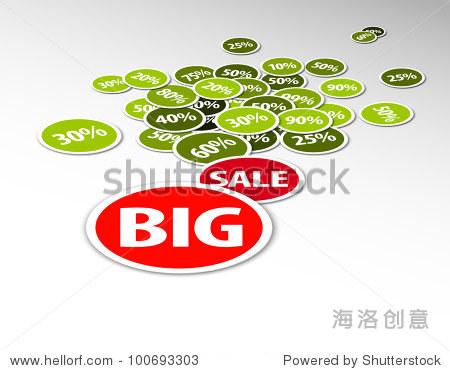 向量的折扣销售背景插图由圆形徽章