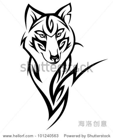 部落狼纹身设计 - 动物/野生生物,符号/标志 - 站酷