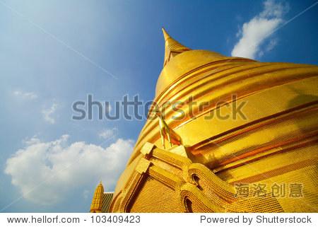 泰国黄金宝塔的地标