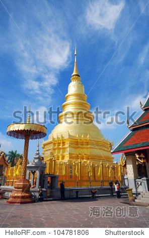 泰国北部的宝塔