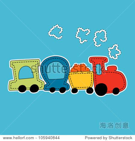 小火车矢量图 - 交通运输,抽象 - 站酷海洛创意正版