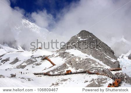 jade dragon snow mount, Lijiang, yunnan, southern china