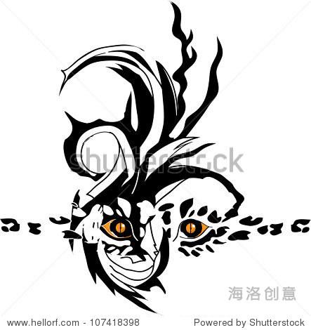 抽象的纹身狮子的眼睛-动物/野生生物,艺术-海洛创意