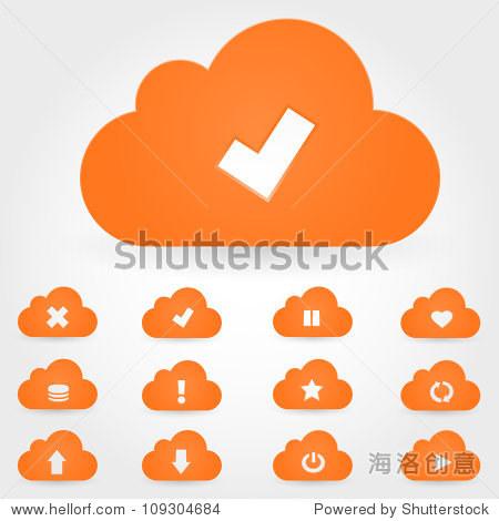 矢量云图标