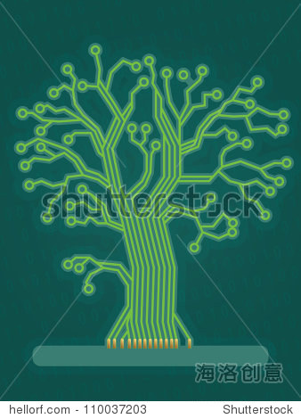 绿色电路板树
