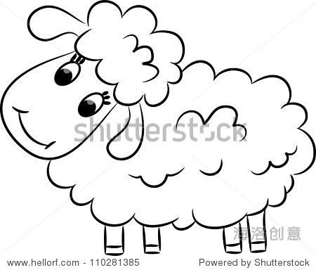 绵羊 简笔画
