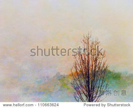 秋天的风景画