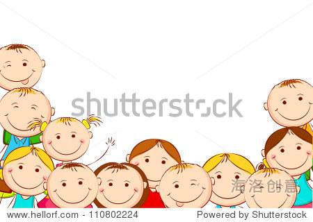 白色背景上的孩子们快乐 - 人物,其它 - 站酷海洛创意