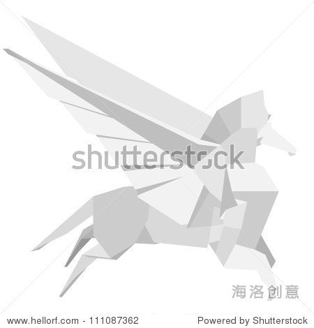 折纸飞马的插图
