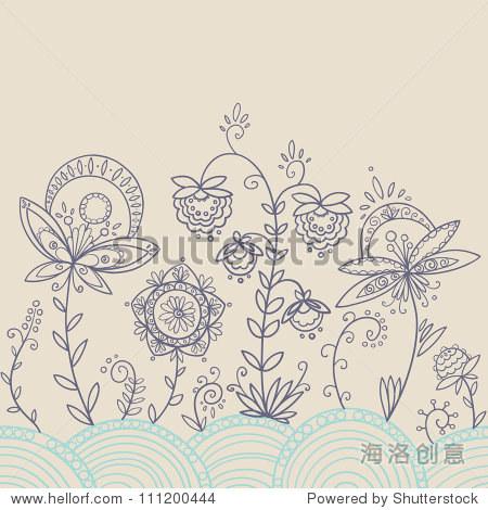 抽象花卉图案 - 背景/素材,抽象 - 站酷海洛创意正版
