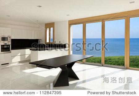 室内设计,的全景视图窗口