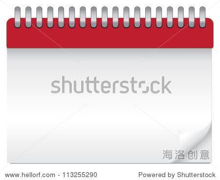 矢量图的空白日历.