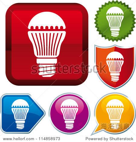矢量图标led灯泡
