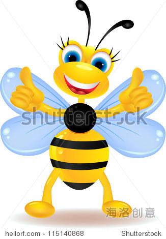 蜜蜂有趣的卡通人物 - 动物/野生生物 - 站酷海洛创意