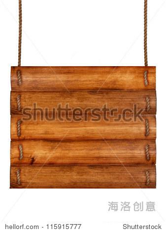 旧的木板和绳子