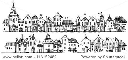 卡通手绘的房子