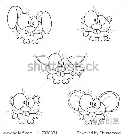 简笔画 动物仓鼠