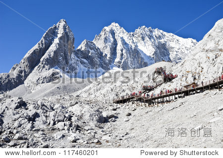 Jade Dragon Snow Mountain in Lijiang, Yunnan, China