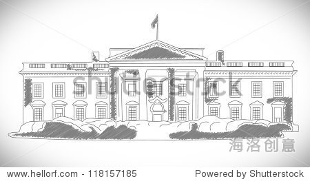 白宫手绘设计