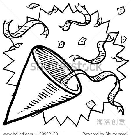 欢庆元旦艺术字简笔画-式的丝带 适合新年前夜 假期,符号 标志 站酷海洛创意正版图片,