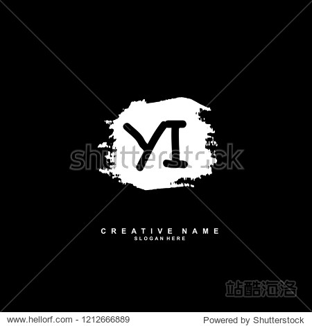 ����y�'�i�yi�_y i yi initial abstract logo concept vector
