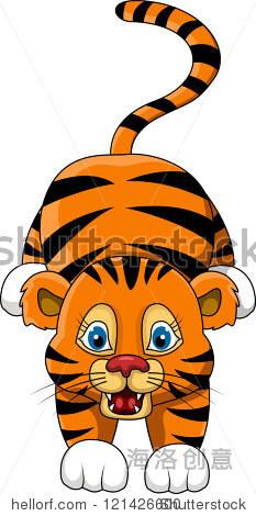 可爱的小老虎卡通表情