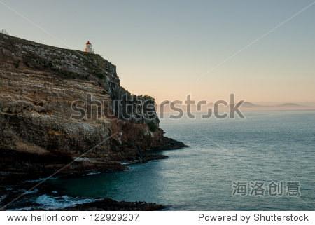 海岸和灯塔在但尼丁,新西兰南岛
