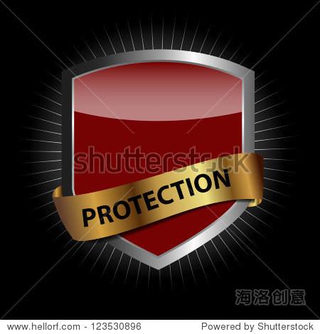 保护盾矢量图
