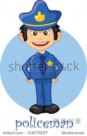 卡通可爱的人物——警察 - 人物,符号/标志 - 站酷,,.