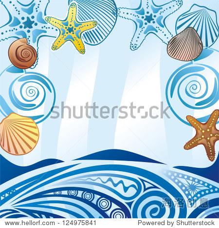 海浪背景矢量图