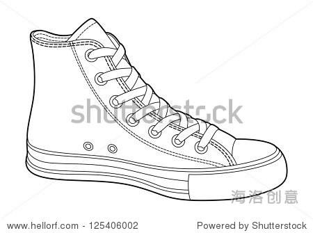 鞋子简笔画简单