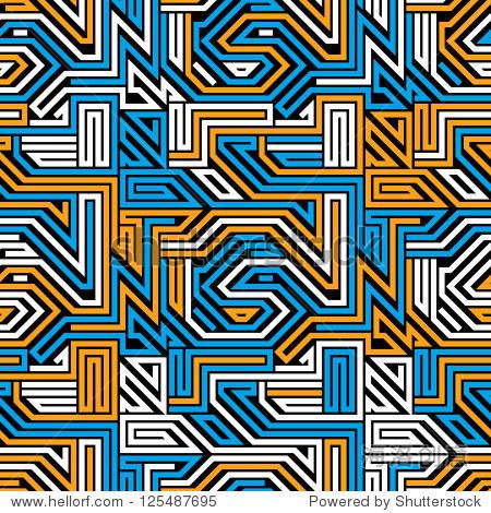 抽象电路板无缝模式,几何矢量的背景.