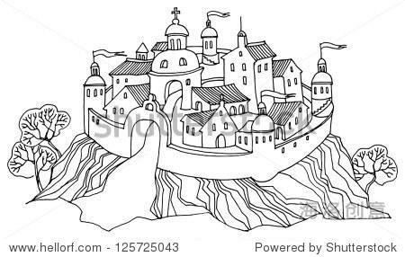卡通手绘城堡