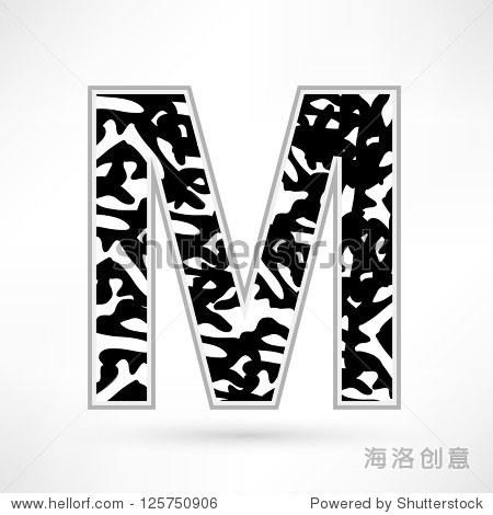字母黑白斑点.米