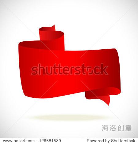 红色横幅文字水平-背景/素材