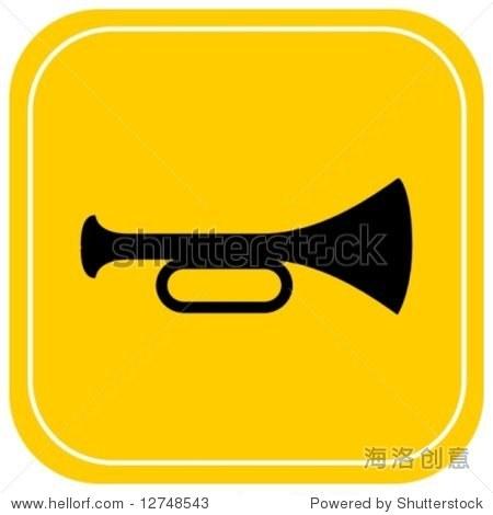 小号或喇叭图标-插图/剪贴图,符号/标志-海洛创意正版