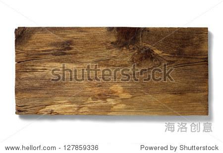 岁的空白木头招牌孤立