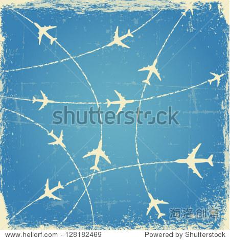 老式的飞机航线