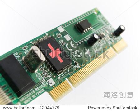 电脑帮助电路板pci白色背景